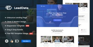 LeadData - Lead Generation Unbounce Landing Page Template