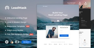 LeadMask - Services Unbounce Landing Page Template