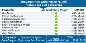 MS Marketing Plugin - HeatMaps, Popup Notifications, Social Proof, Messenger, Feedback, Sliders ...