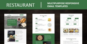 Restaurant - Multipurpose Responsive Email Template with Mailchimp Editor & Online StampReady Builde