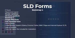 SLD Forms Bootstrap 4