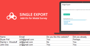 Single Export - Modal Survey Add-on