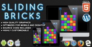 Sliding Bricks - HTML5 Skill Game