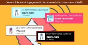 Trustify - WordPress Fake Social Evidence