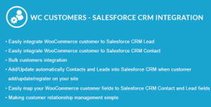 WooCommerce Customers - Salesforce CRM Integration