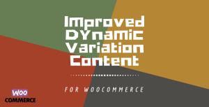 WooCommerce Dynamic Variation Content Plus