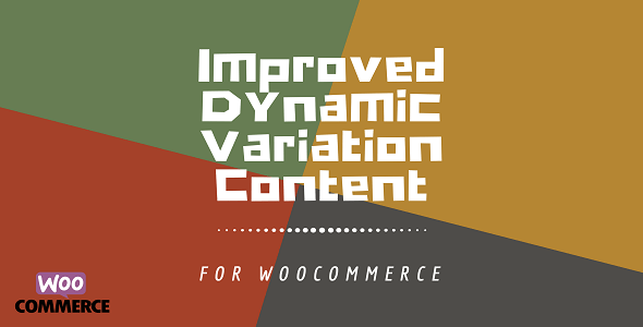 WooCommerce Dynamic Variation Content Plus