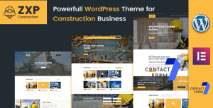 ZXP - Construction Building Company WordPress Theme