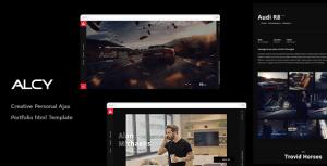 ِِAlcy -Creative Personal Ajax  Portfolio html Template