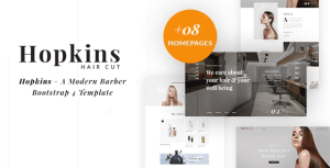 Barber Shop & Hair Salon HTML - Hopkins