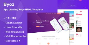 Byoz - App Landing Page HTML Template