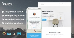 Candy Responsive Email Template + Stampready Builder + Mailchimp + Mailster