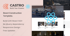 Castro – React Construction Template