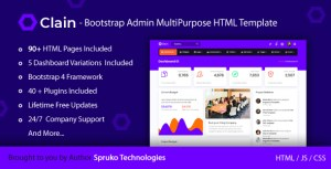 Clain – Bootstrap Admin Dashboard Responsive Multipurpose HTML Template