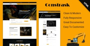 Constrask - Heavy Construction Business HTML Template