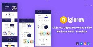 Digicrew - Responsive HTML Template