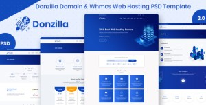 Donzilla Domain & Whmcs Web Hosting PSD Template
