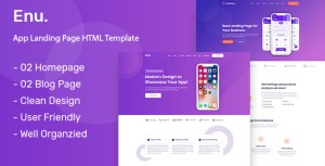 Enu. - App Landing Page