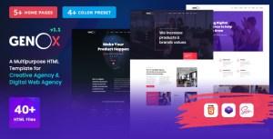 Genox - Creative Agency & Digital Web Agency Multipurpose HTML Template