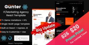Gunter React - IT and Marketing Agency Portfolio Template