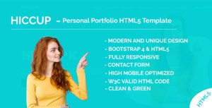 Hiccup - Personal Portfolio HTML5 Template