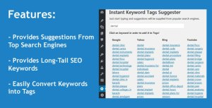 Instant Keyword Tags Suggester WordPress Plugin