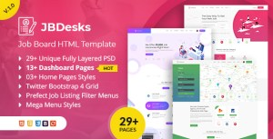 JBDesks - Job Board HTML5 Template