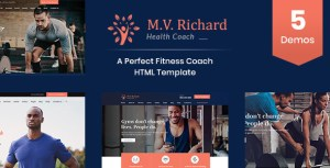 MV Richard - Health, Fitness, Personal Coach Template