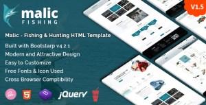 Malic - Fishing & Hunting Club HTML Template + RTL