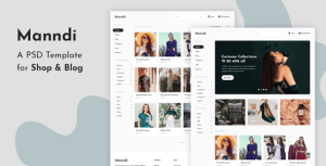 Manndi - A PSD Template For Shop & Blog