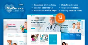 MedServices - Medical Hospital Health Clinic HTML Template