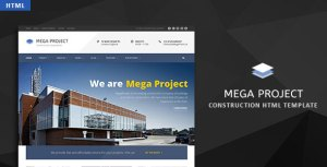 Mega Project - Construction HTML Template