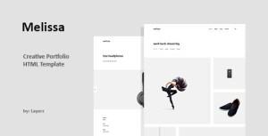 Melissa - HTML Portfolio Template