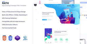 RATH - App Landing Onepage HTML Template