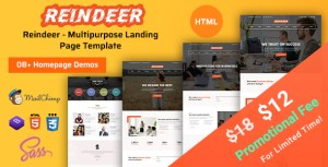 Reindeer   Multi-Purpose Landing Page HTML Template