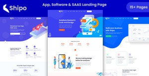 Shipo - App, Software & SAAS Landing Template