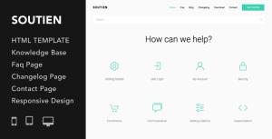 Soutien | Customer Support Helpdesk HTML Template
