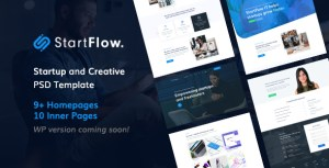 Start Flow - Startup and Creative Multipurpose PSD Template