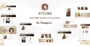 Styling - Barber shop & Hair Salon HTML Ecommerce Template