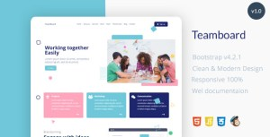 Teamboard Landing Page Template