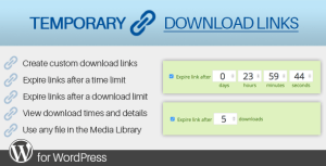 Temporary Download Links for WordPress