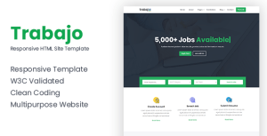 Trabajo - Responsive Job Portal Website Template
