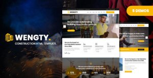 Wengty - Construction & Building HTML Template