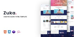 Zuka - Creative Agency HTML Template
