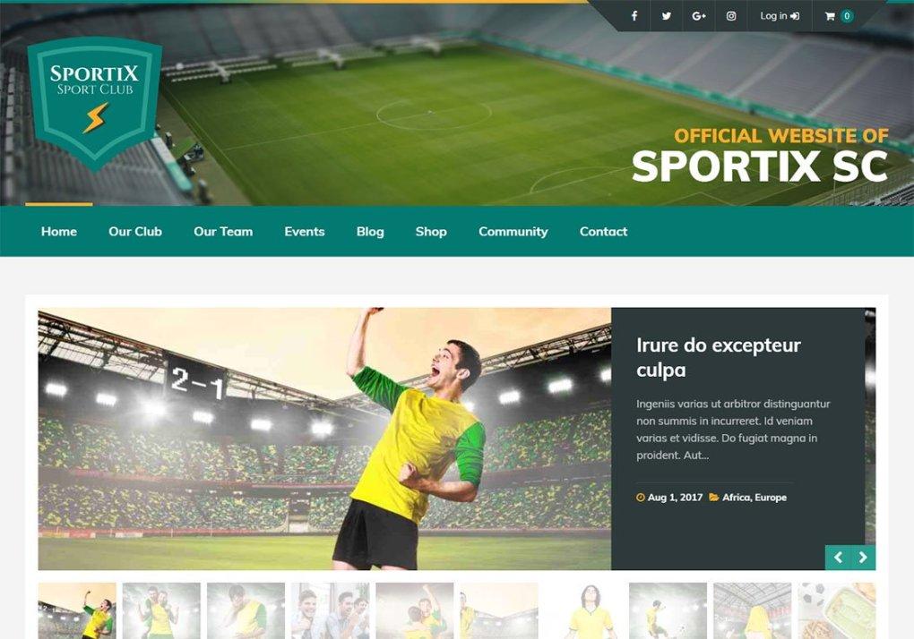 Thème WordPress Baseball Sportix