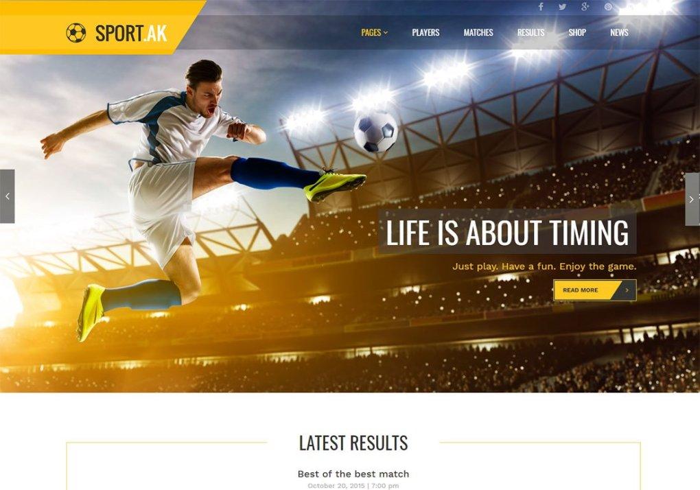 Thème WordPress baseball SportAK