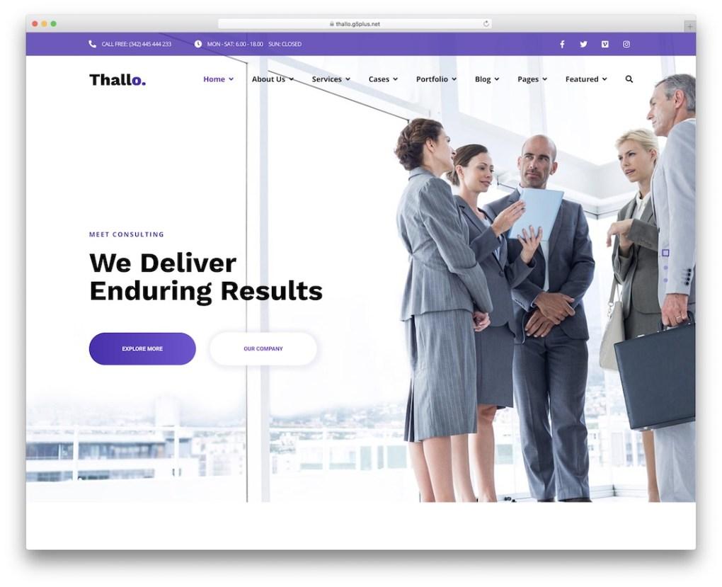 Thème de consultation de thallo wordpress