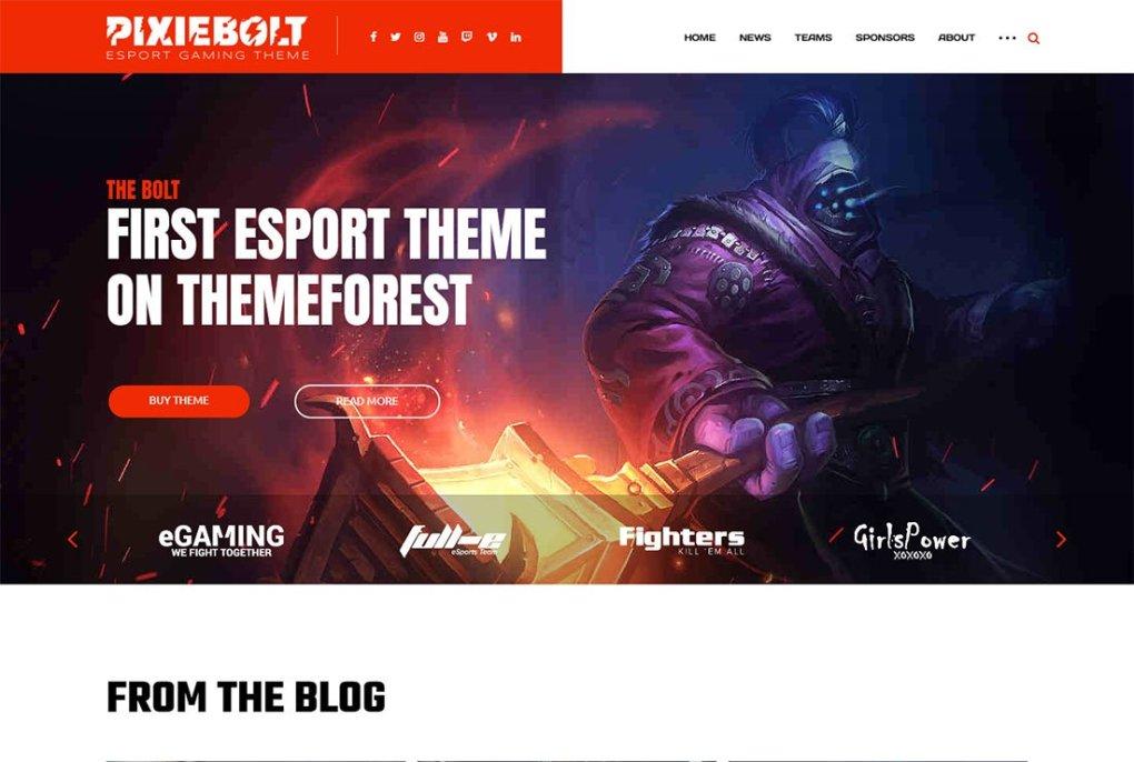 Thème de streaming en direct Pixiebolt WordPress