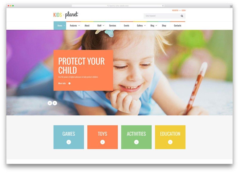 kidsplanet-kindergarten-website-template
