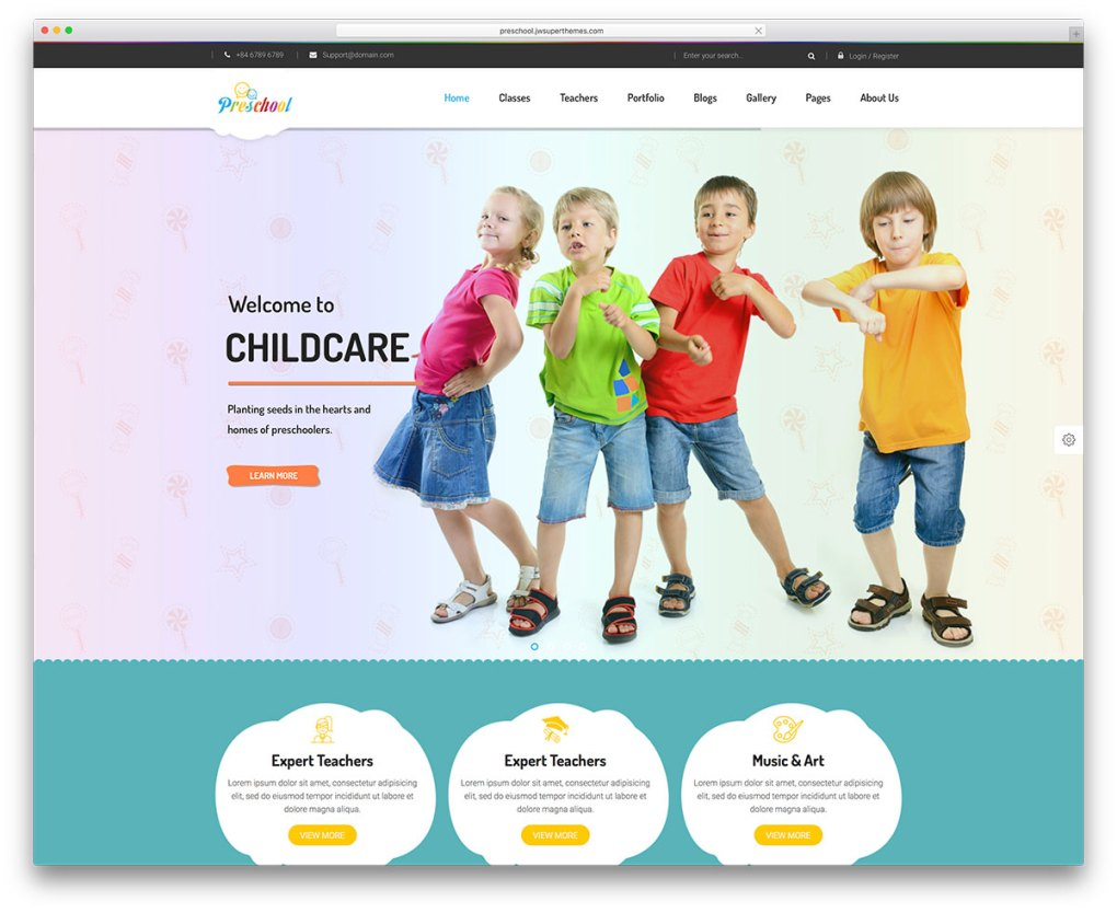 préscolaire-wordpress-site-web-modèle